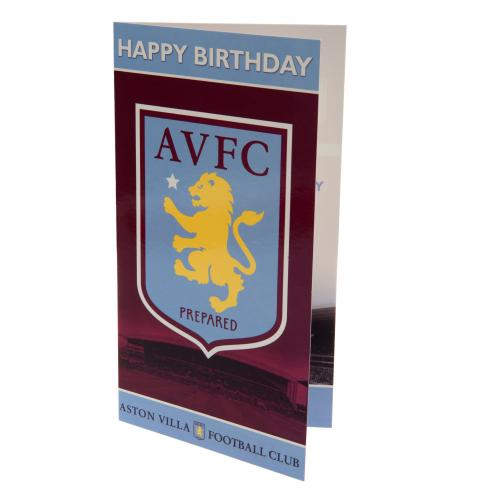 Aston Villa FC Birthday Card