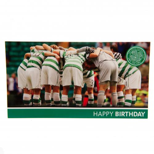Celtic FC Birthday Card - Huddle