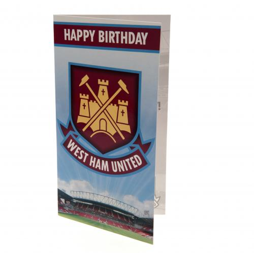 West Ham United FC Birthday Card