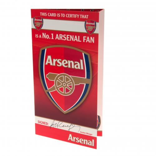 Arsenal FC Birthday Card - No 1 Fan