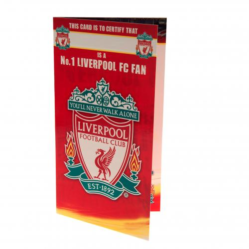 Liverpool FC Birthday Card - No 1 Fan