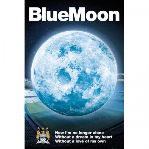 Manchester City FC Poster - Blue Moon