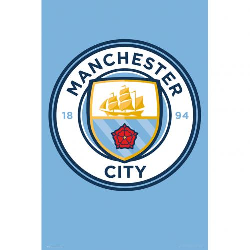 Manchester City FC Poster - Crest