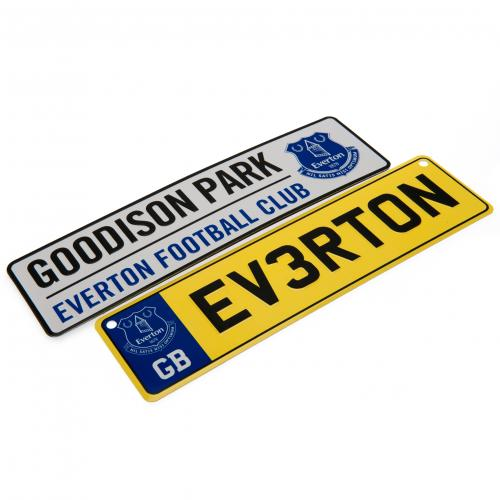 Everton FC Window Sign & Fridge Magnet Set