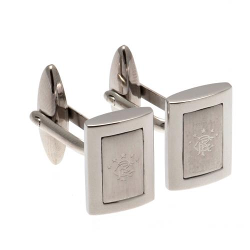 Rangers FC Cufflinks - Stainless Steel - Framed