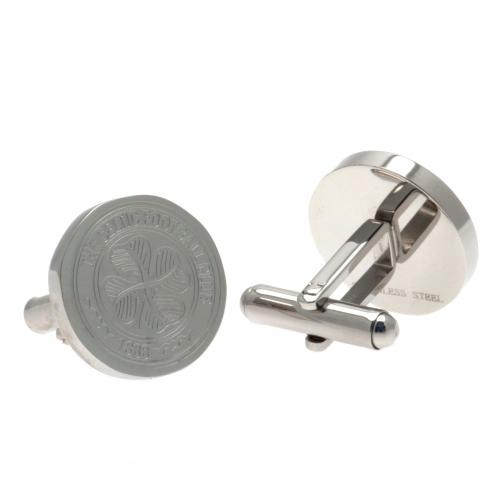 Celtic FC Cufflinks - Stainless Steel - Crest