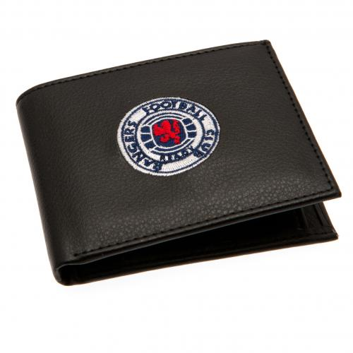 Rangers FC Leather Wallet - Embroidered Crest