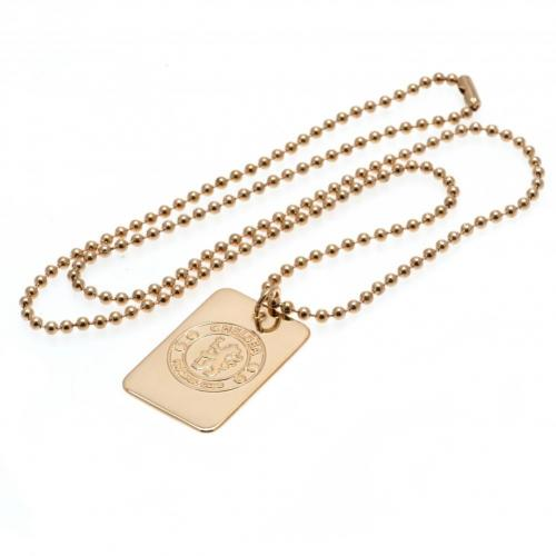 Chelsea FC Dog Tag & Chain - Gold Plated