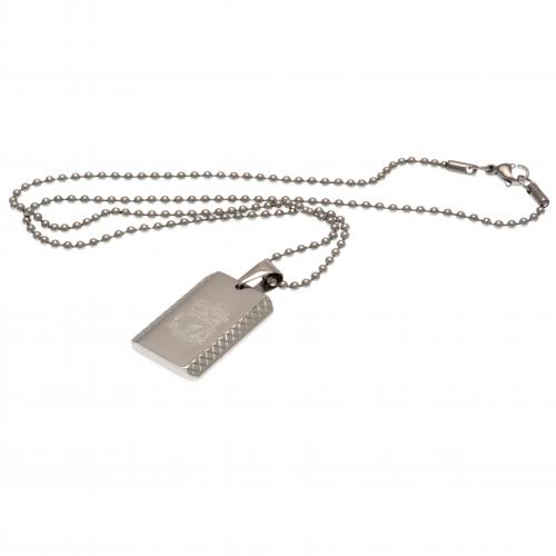 Liverpool FC Dog Tag & Chain - Pattern