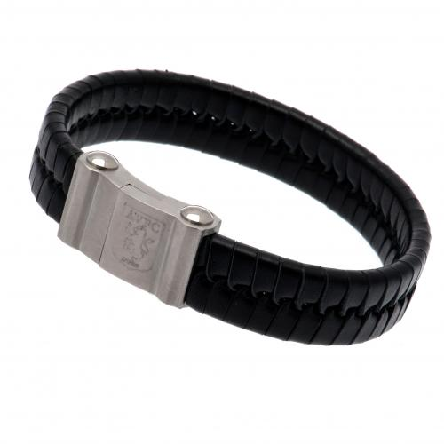 Aston Villa FC Leather Bracelet - Single Plait