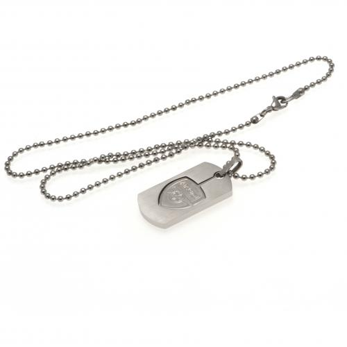 Arsenal FC Dog Tag & Chain - Cut Out
