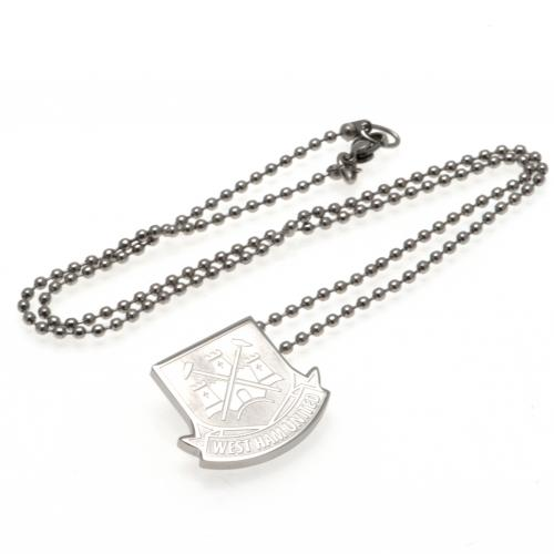 West Ham United FC Pendant & Chain - Stainless Steel