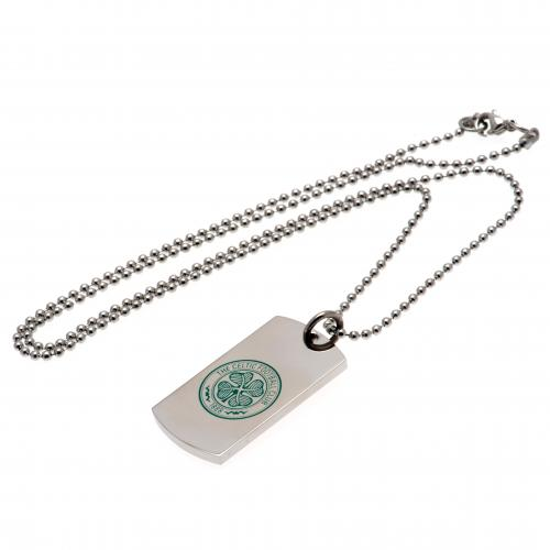 Celtic F.C. Colour Crest Dog Tag and Chain