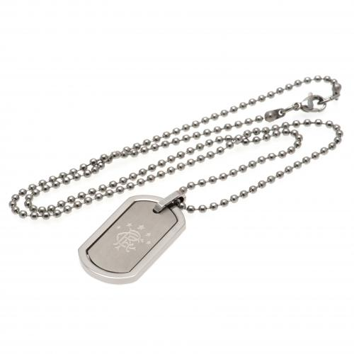Rangers FC Dog Tag & Chain - Framed