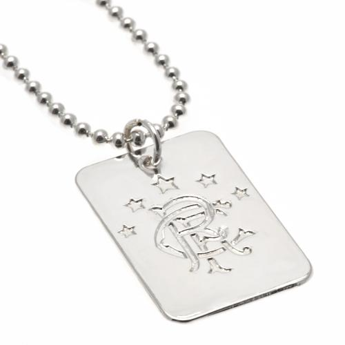 Rangers FC Dog Tag & Chain - Silver Plated