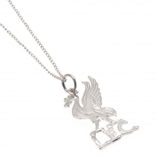 Liverpool FC Pendant & Chain - Sterling Silver - Liver Bird