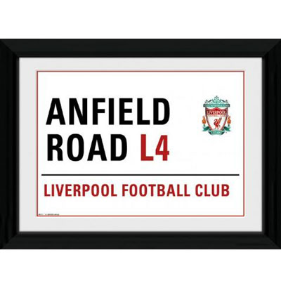 Liverpool FC Picture - Framed - Street Sign - 16 x 12