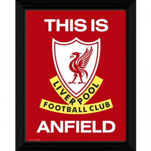 This Is Anfield Picture - Framed - 16 x 12