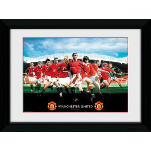 Manchester United FC Picture - Framed - Legends - 16  x 12