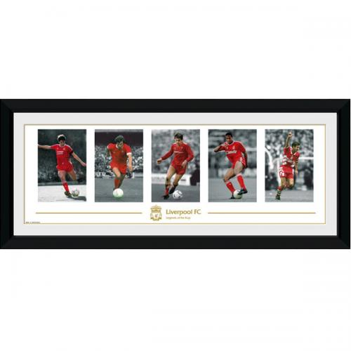 Liverpool FC Picture - Framed - Legends - 30  x 12