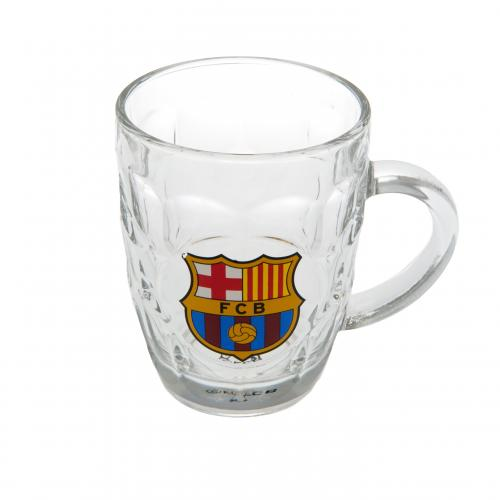 FC Barcelona Pint Glass - Dimpled