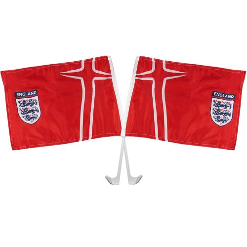 England Car Flag Twin Pack - Away
