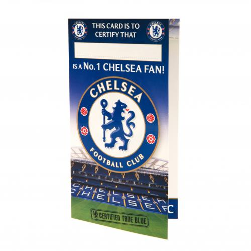 Chelsea FC Birthday Card No 1 Fan