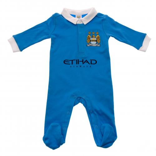 Manchester City FC Baby Sleepsuit - 0/3 Months