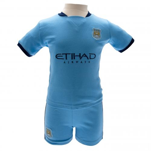 Manchester City FC Baby Shirt & Shorts Set - 3/6 Months