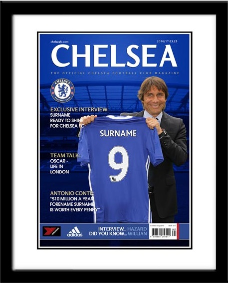 Chelsea FC Personalised Magazine Cover