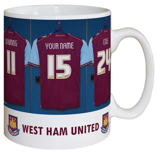 West Ham United FC Personalised Mug