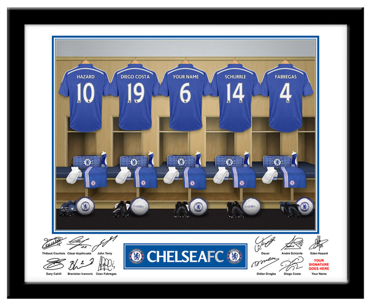 Chelsea FC Personalised Name On Shirt Photo