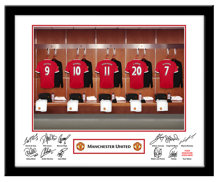 Manchester United FC Personalised Name On Shirt Photo