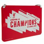 Liverpool FC Champions Of Europe Bedroom Sign 3