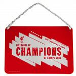 Liverpool FC Champions Of Europe Bedroom Sign 2