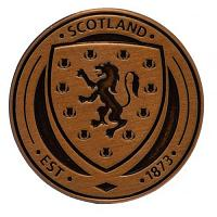 Scotland FA Antique Gold Plated Badge