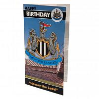 Newcastle United FC Birthday Card & Badge