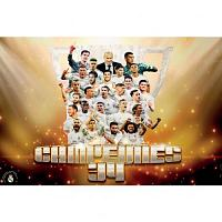 Real Madrid FC Poster Campeones 34