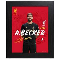 Liverpool FC Picture Alisson 10 x 8