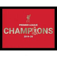Liverpool FC Premier League Champions Metallic Picture 16 x 12