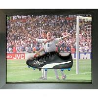 England FA Gascoigne Signed Boot (Framed)