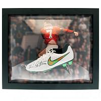 Manchester United FC Cantona Signed Boot (Framed)