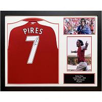 Arsenal FC Pires Signed Shirt (Framed)