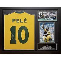 Brazil Pele Signed Shirt (Framed)