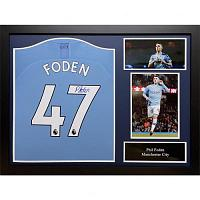 Manchester City FC Foden Signed Shirt (Framed)