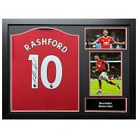 Manchester United FC Rashford Signed Shirt (Framed)