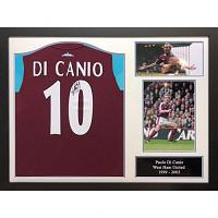 West Ham United FC Di Canio Signed Shirt (Framed)