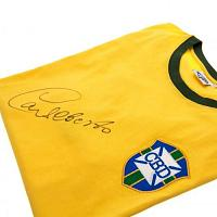 Carlos Alberto Signed Brasil 1970 World Cup Shirt