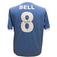 Manchester City FC Bell Signed Shirt