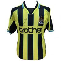 Manchester City FC Dickov Signed Shirt